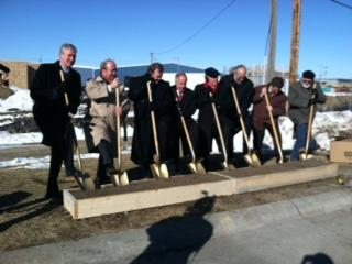 Officials break ground for new efficiency apartments and a community services facility at Siena/Francis House.