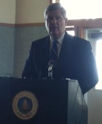 Agriculture Secretary Tom Vilsack spoke Friday in Omaha.