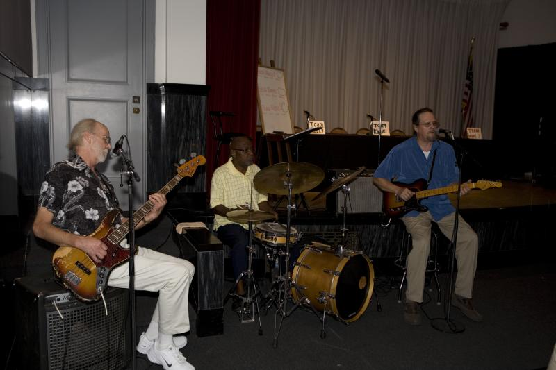 The Swampboy Blues Band entertains the crowd