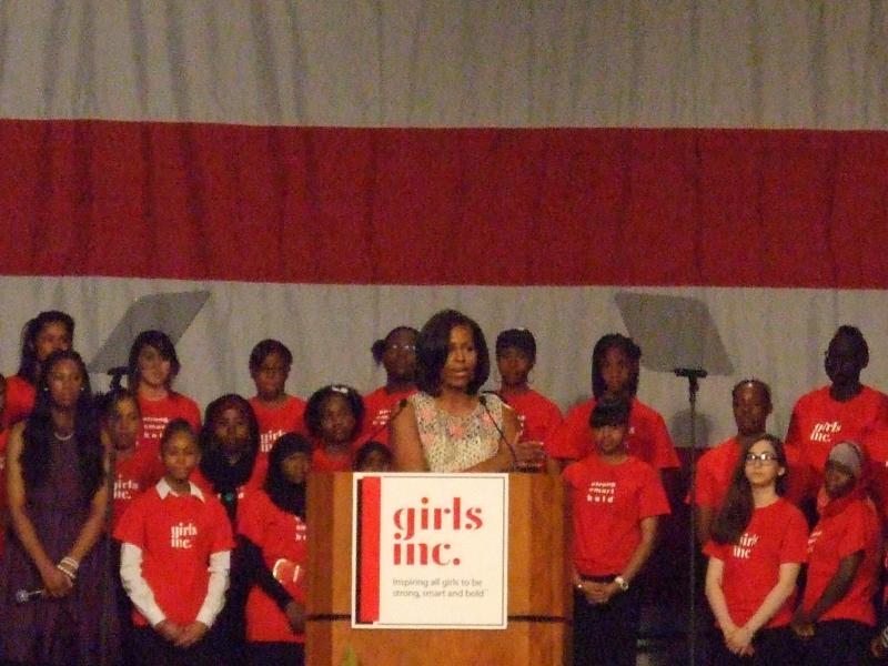 First Lady Michelle Obama at Girls, Inc. Luncheon