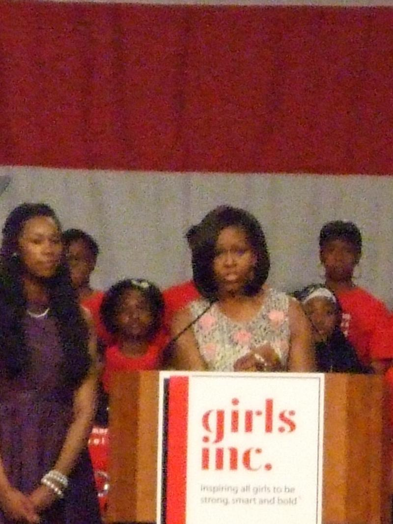 First Lady Michelle Obama at Lunch for the Girls 2012