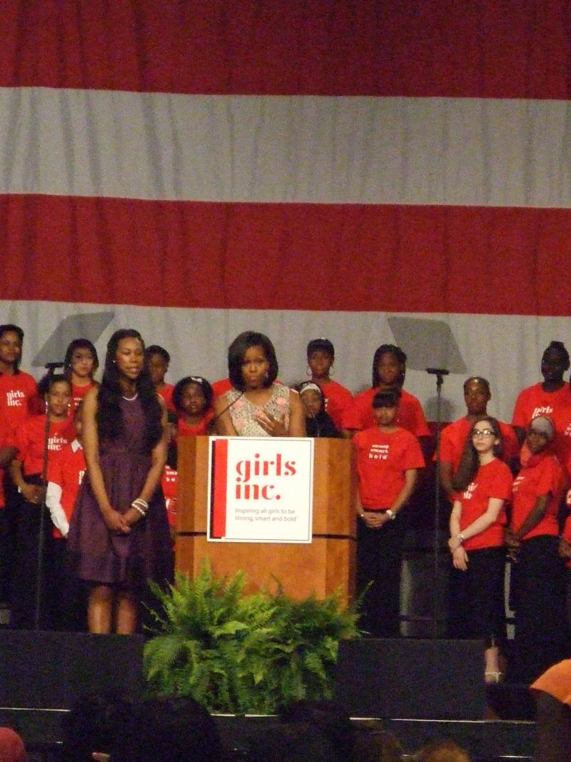 First Lady Michelle Obama Speaks at Lunch for the Girls 2012