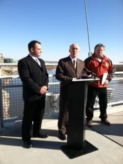 Mayor Jim Suttle, Papio-Missouri River NRD General Manager John Winkler, and Gordon Andersen of Omaha Public Works announced the partnership at a Friday news conference.