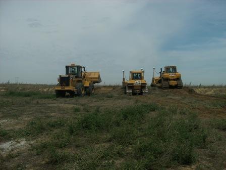 Crews break ground at the site of Google's new data center.