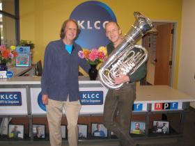 Eric Alan and tuba virtuoso Oystein Baadsvik.