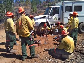 Inmates fighting the Douglas Complex fires in 2013