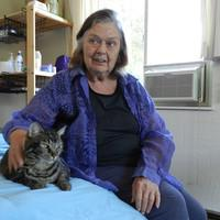 HelenRuth Stephens and her cat Chessie.