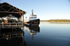 Tug boat in Coos Bay, Oregon.