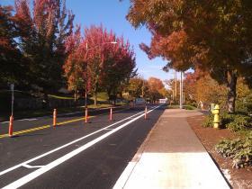 New bike lanes on Willamette St.