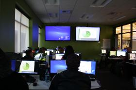A health exchange call center in Spokane.
