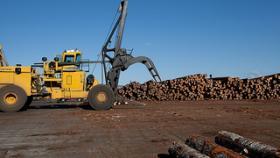 A log stacker