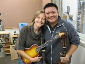 Craig Chee and Sarah Maisel in the KLCC studios.