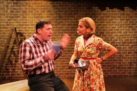 Bill Hulings and Storm Kennedy as Tom and Kate in Who Am I This Time?