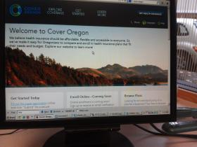 The Cover Oregon Home page.