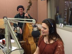 Halie Loren at KLCC, with Mark Schneider on bass. (Not pictured: Matt Treder on keyboards.)