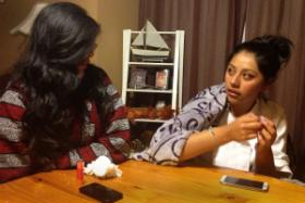 Karleen Tapia, left, and her sister Ashley.