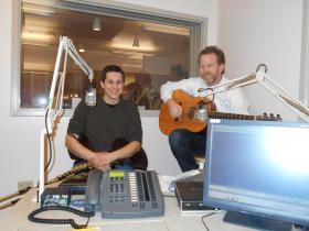 Uilleann piper Eliot Grasso and guitarist Glen Waddell.