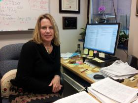 Professor of Environmental and Molecular Toxicology Staci Simonich in her office at Oregon State University
