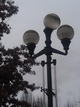 This and 43 other light poles will be illuminated Valentine's night in downtown Eugene during the rescheduled First Friday Art Walk.