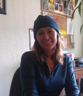 Lauren Regan at her office in Eugene.