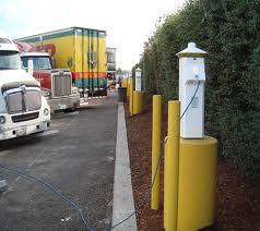 An electronic charging station for semi-trucks, a technology developed by Cascade Sierra Solutions.