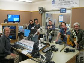 Solas with Eric Alan in the KLCC studios. (Left to Right: Eric Alan, Noriana Kennedy, Winifred Horan, Mick McAuley, Eamon McElholm, Seamus Egan.)