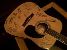 Signed guitar auctioned for Bryan Stow.