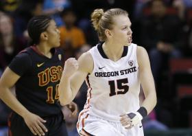 OSU's Jamie Weisner scored 6 during PAC-12 Tournament final.