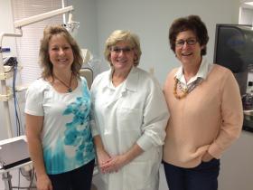 Leslie Greer, Instructor & Dental Coordinator, Sharon Hagan, Dental Hygiene Program Coordinator and Sheryl Berman, Dean of Lane's Health Careers Program.