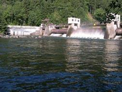The Leaburg Dam on the McKenzie River.