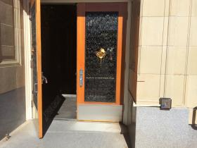Not all automatic doors on the OSU campus open completely, such as this one at Kidder Hall.