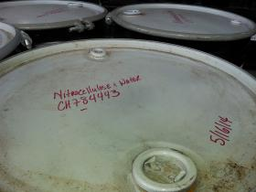 Barrels of hazardous cellulose nitrate negatives set to be shipped for incineration in Utah.