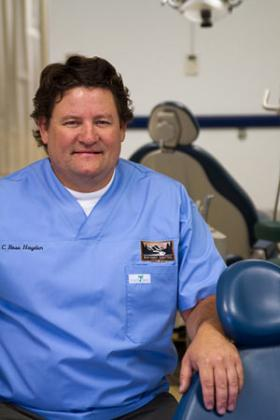 Cedric Hayden is a dentist who lives in Fall Creek.