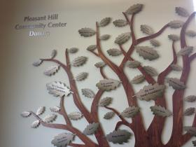 The donor tree at the Pleasant Hill Community Center.