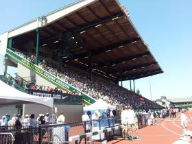 Hayward Field, site of the 2014 NCAA Track & Field Championships.