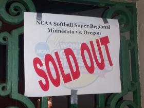 Oregon's NCAA Softball Super Regional is completely sold out.