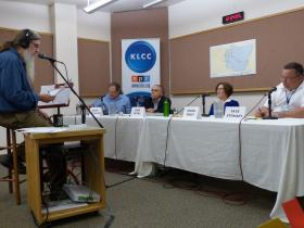 Candidates for the East Lane County Commissioner Race attend a live, on-air forum at KLCC.