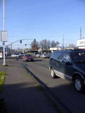 Traffic on South Willamette Street in Eugene.