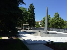 Oregon's World War II memorial stands on the grounds of the state capitol in Salem.