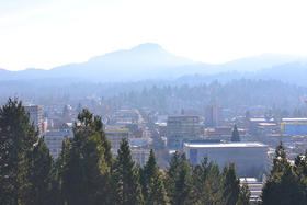A view of downtown Eugene.
