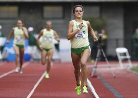 Senior Laura Roesler is the favorite in the women's 800m at the NCAA Track and Field Championships in Eugene.