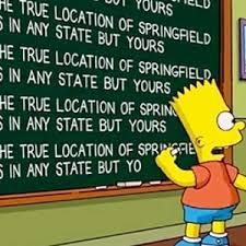 Bart Simpson and the location of Springfield?