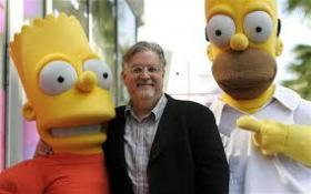 Matt Groening, Bart, and Homer.