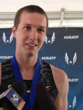 Cole Walsh won the USA Junior pole vault.