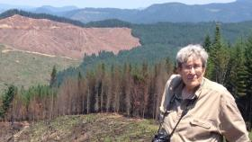 Frances Eatherington, conservation director of Cascadia Wildlands, says the BLM should pursue forest thinning rather than more intensive logging.