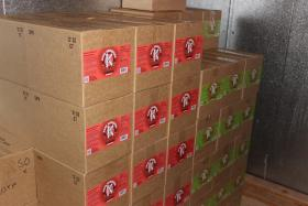 Boxes ready for distribution at Kore Kumbucha