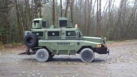 A Lane County Sheriff's Department armored vehicle.