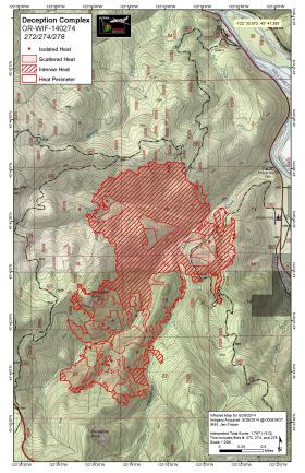 Map of the Deception Complex fire.