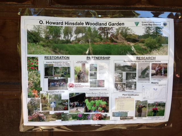 Poster detailing the past and present at the Hinsdale Garden.