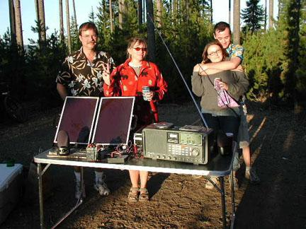 Listening on solar radio from Crescent Lake OR